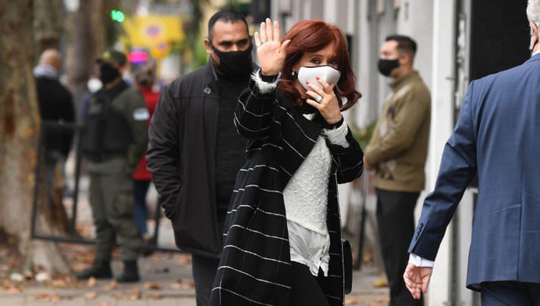 Cristina Fernández en juzgado federal 1 de Lomas de Zamora