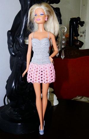 Vestido de crochê para Barbie passo a passo PAP 4