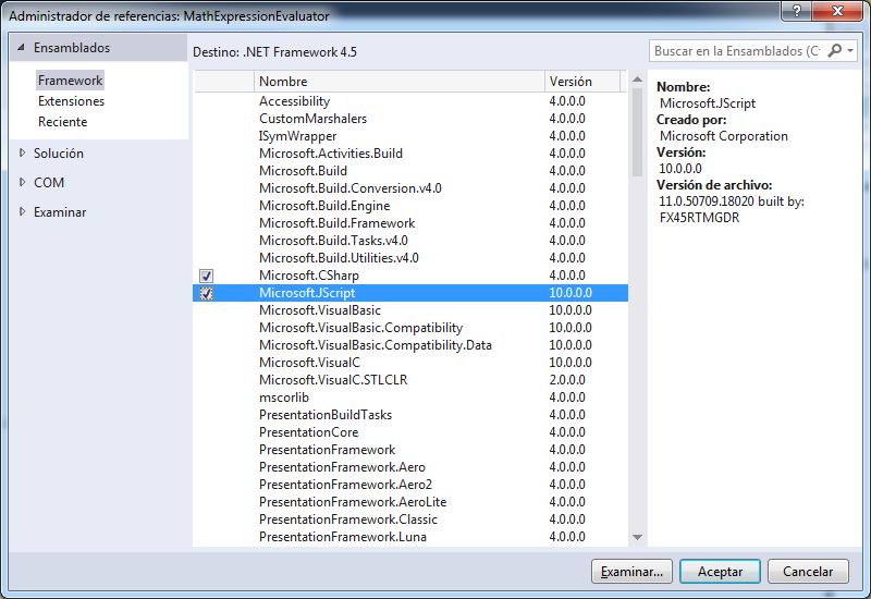 Añadir referencia a Microsoft.JScript