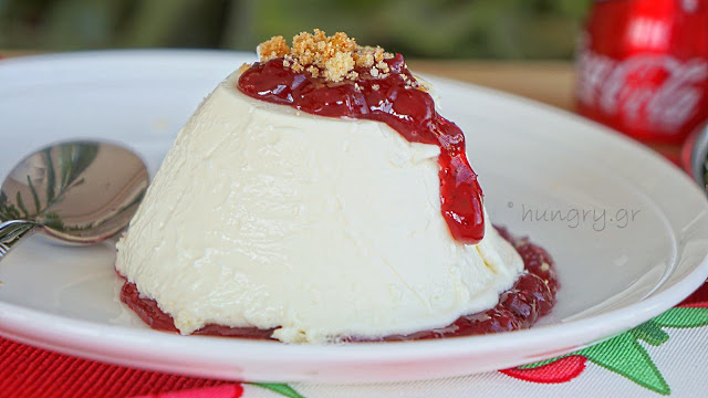Cheese Mousse with Lingonberries