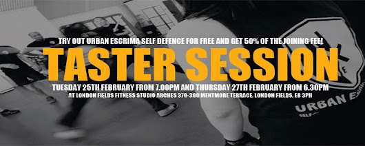 Urban Escrima: Our next FREE Urban Escrima Self-Defence Taster Session!