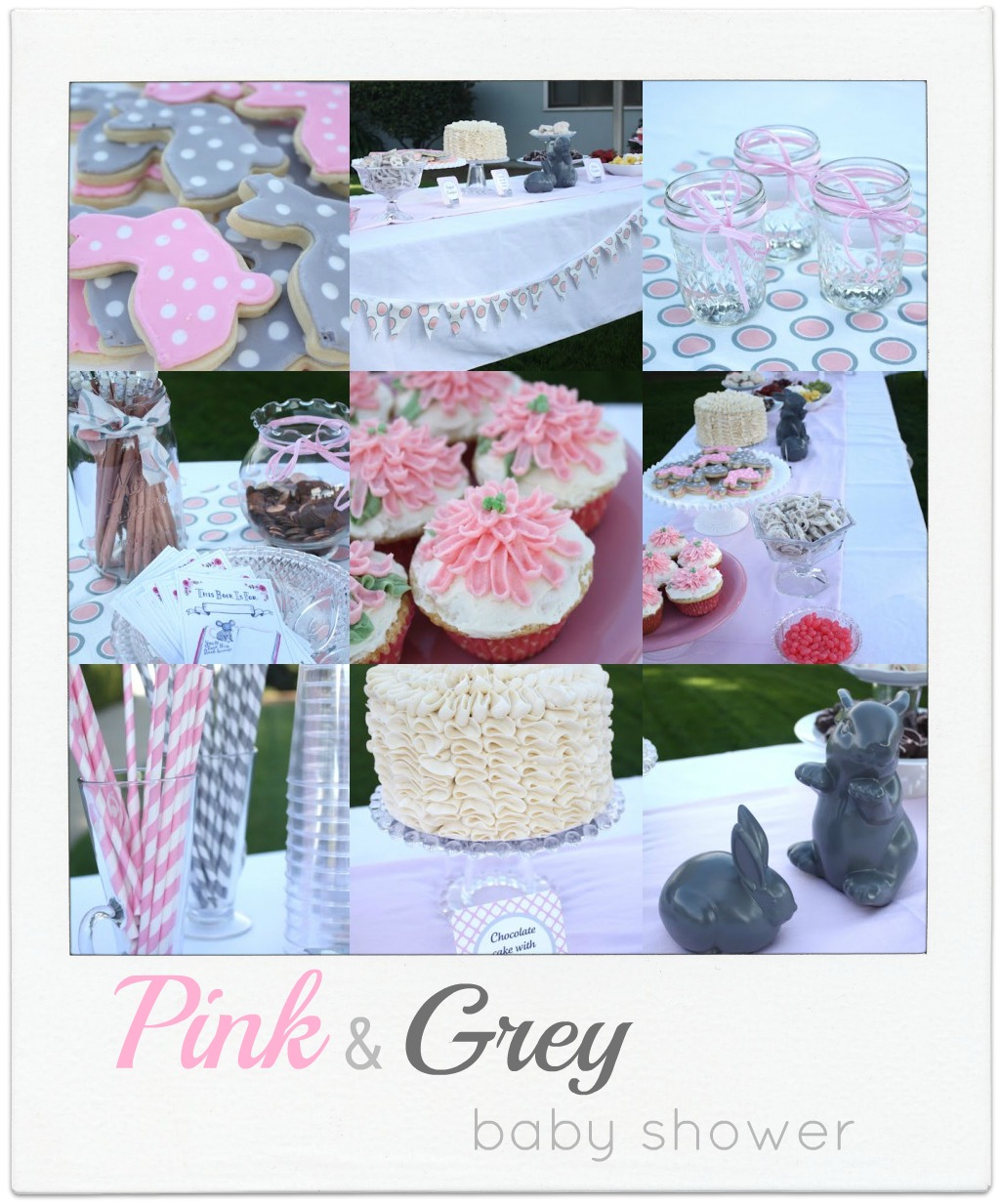 Grey And Pink Pink And Grey Baby Shower