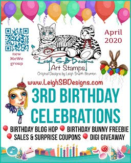 Happy 3rd Birthday LeighSB Designs