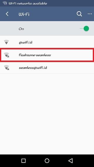 Internetan Gratis di Area @wifi.id Menggunakan Flashzone-Seamless 2