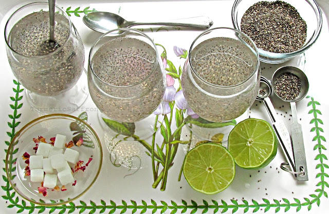 Traditional Iranian Chia Seeds Drink