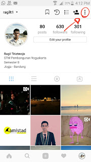 buka setting instagram