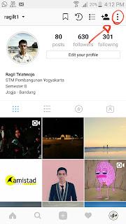 buka setting instagram