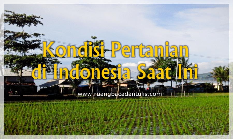 Ruang Baca Dan Tulis Kondisi Pertanian Di Indonesia Saat Ini