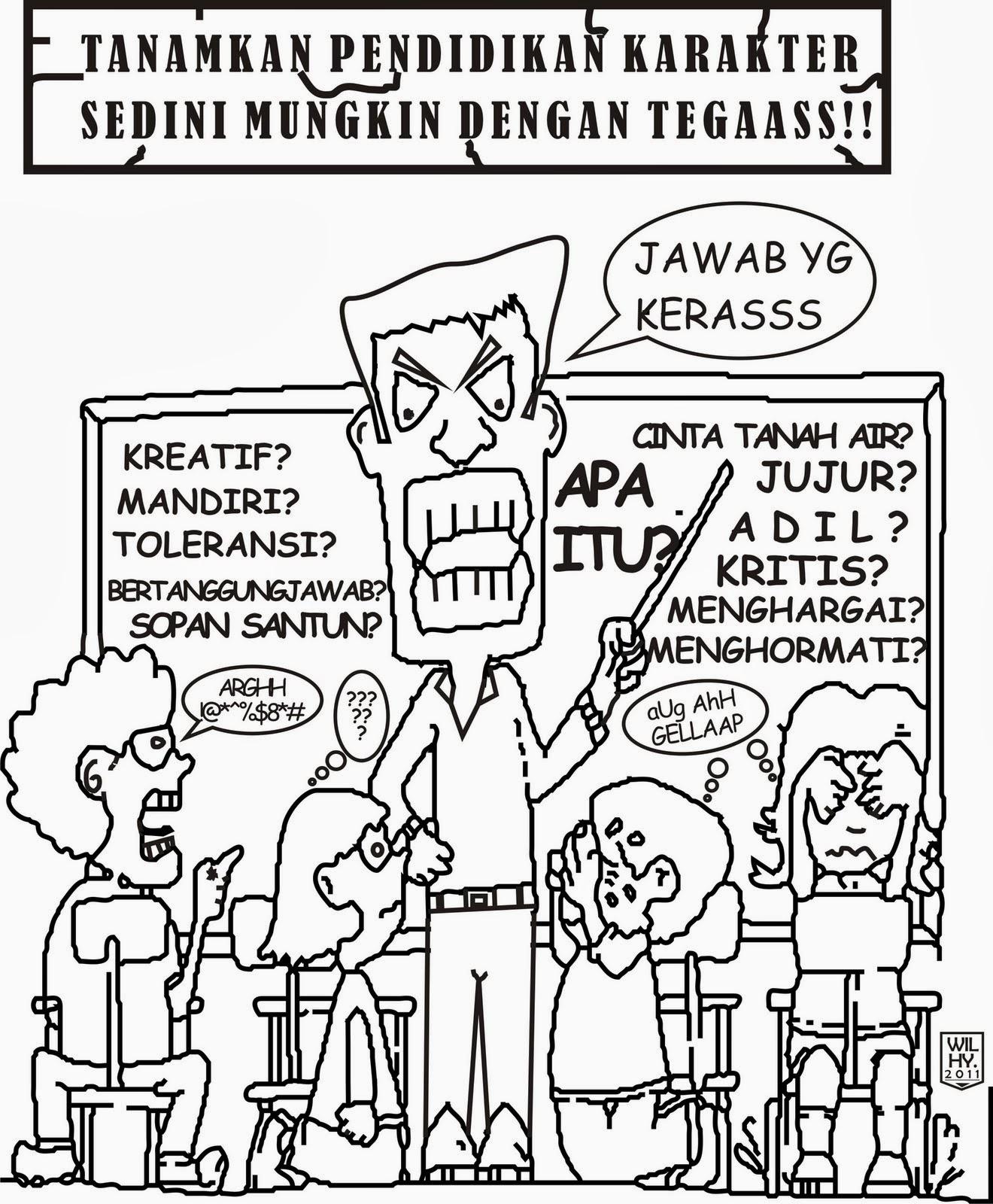 Gambar Kartun Lucu Tentang Pendidikan