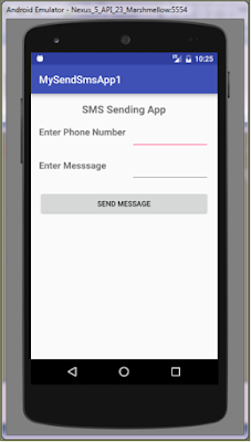 Sending And Receiving SMS in android
