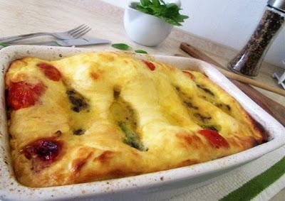 Zapečene tikvice s nadjevom / Baked zucchini with filling