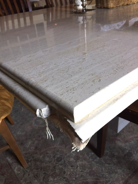 Fixing a Marble Table with Sugru in the Stonecrest Kitchen