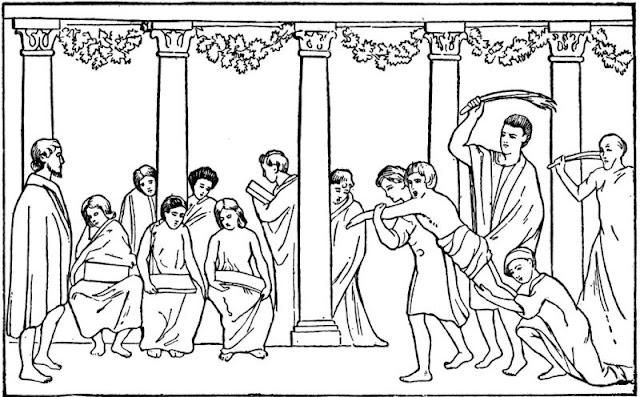 www.fertilmente.com.br - O festival diamastigosis era a forma do cidadão Espartano provar sua resiliencia e força