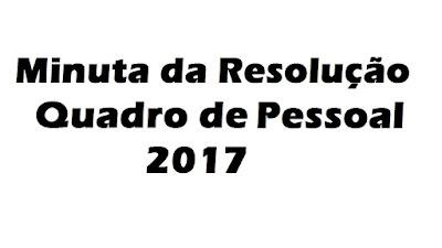 Minuta da Resolução que estabelece normas para organização do Quadro de Pessoal das Escolas Estaduais e a designação para o exercício de função pública na Rede Estadual