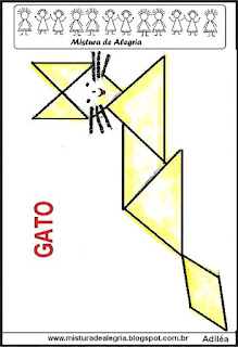 tangram desenho de gato