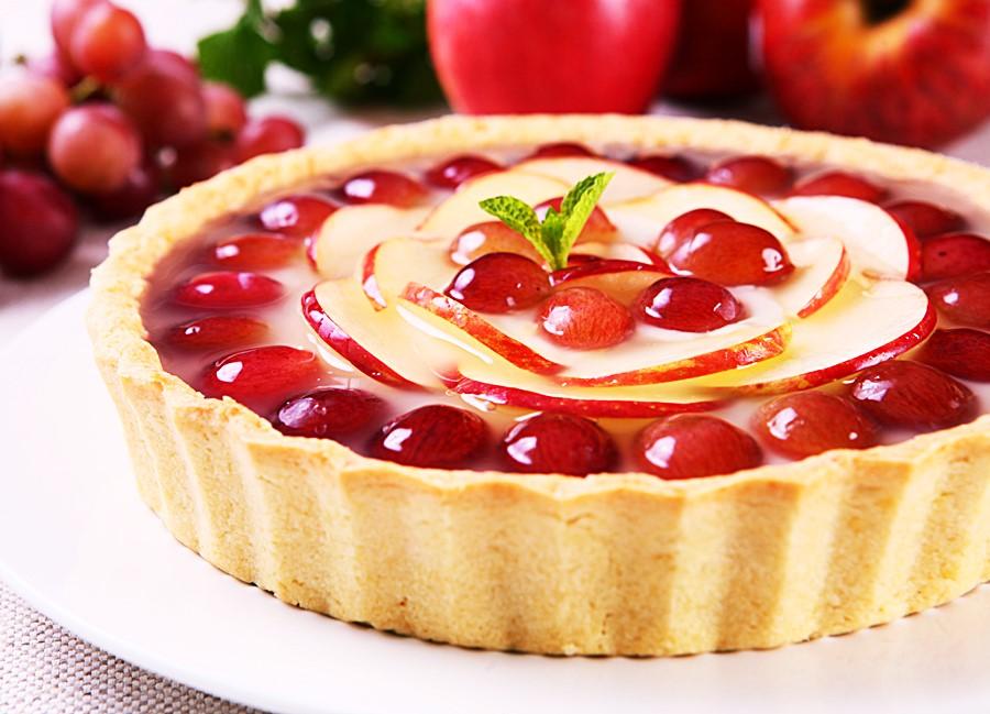 Receita: Torta de Maçã e Uva