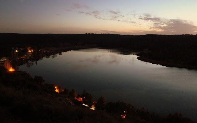 Puesta de sol en la Laguna del Rey. Lagunas de Ruidera