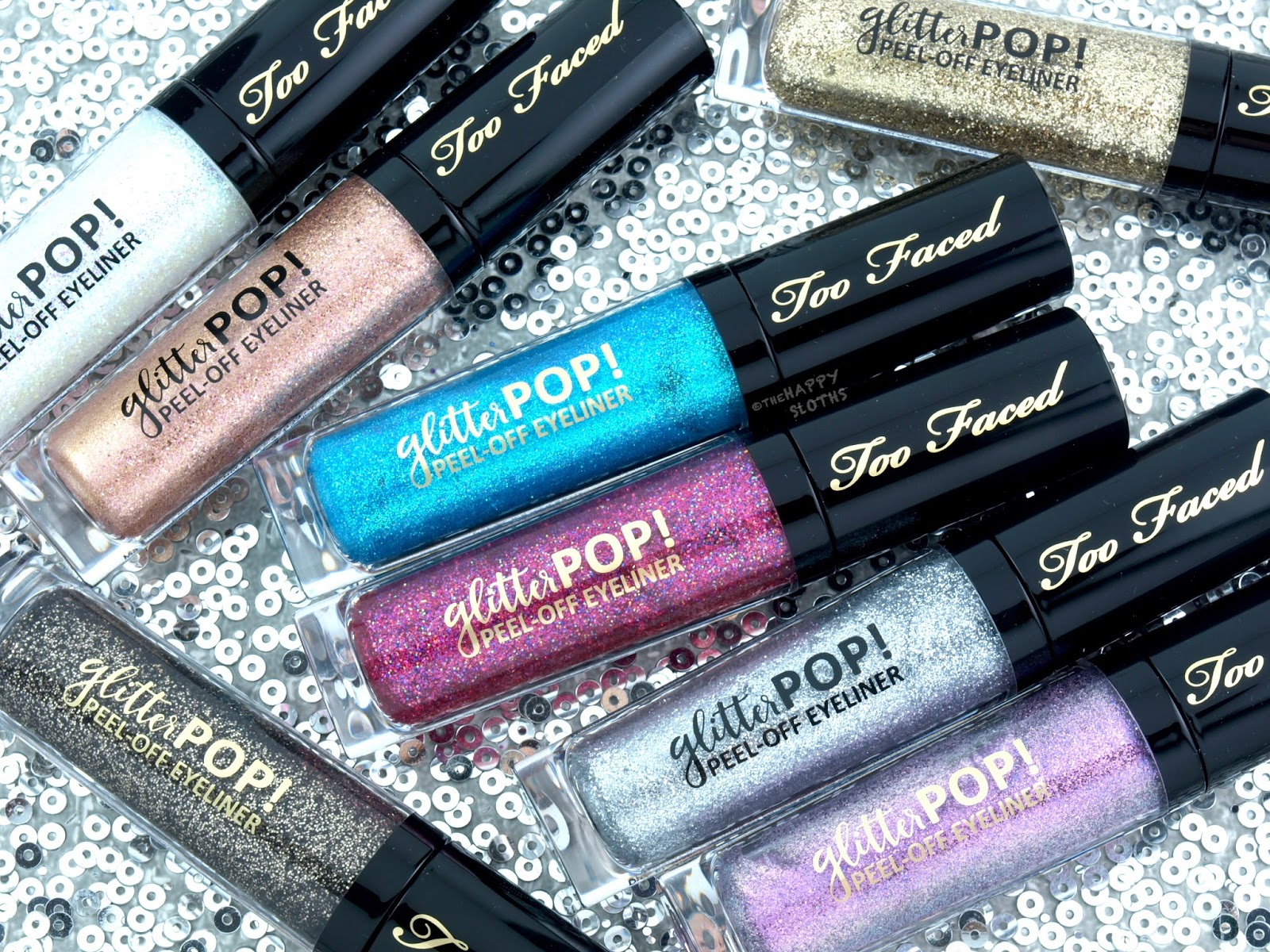 Too Faced Glitter Pop! Peel-Off Eyeliner: Review and Swatches