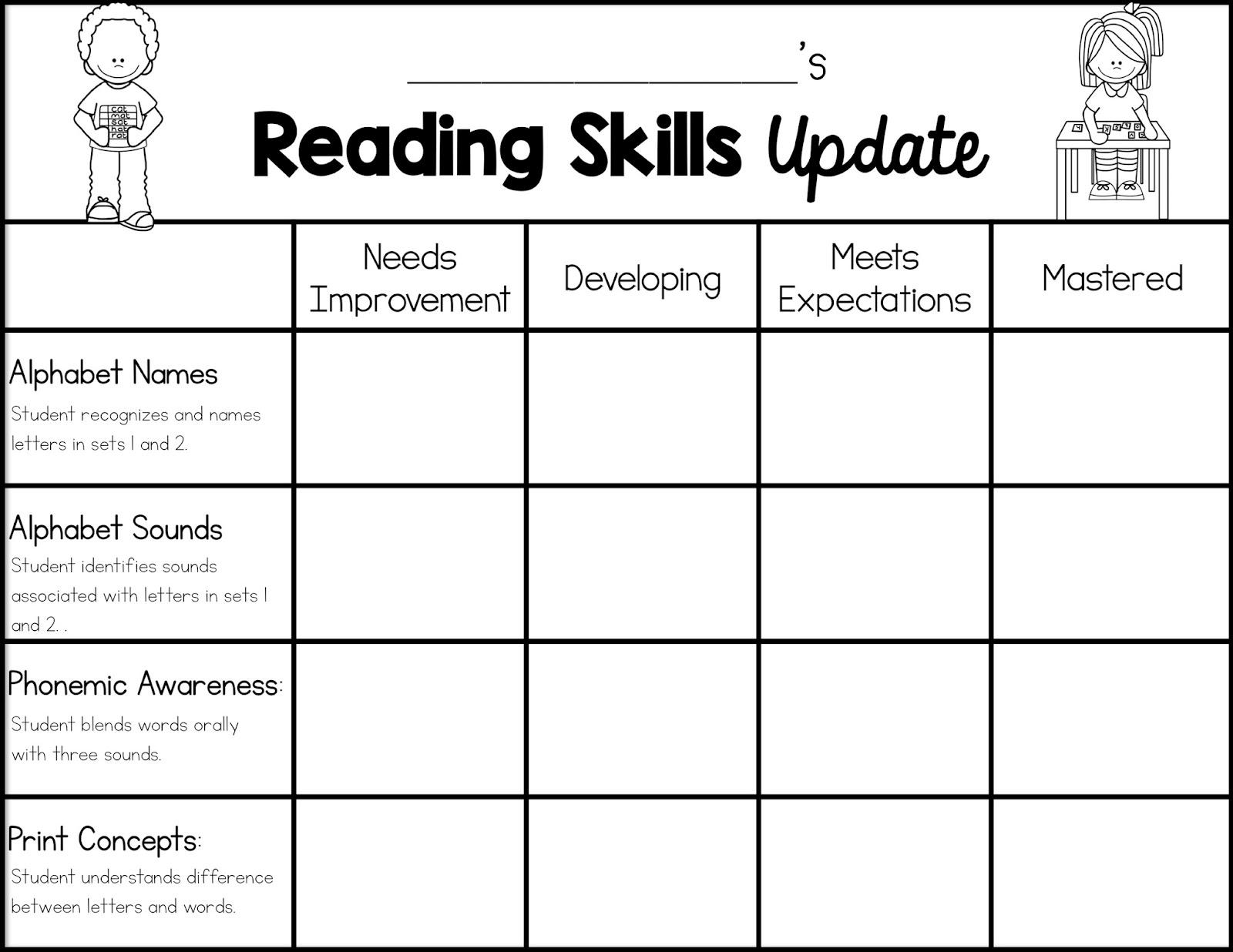 Sarah S First Grade Snippets Reading Skills Snapshots