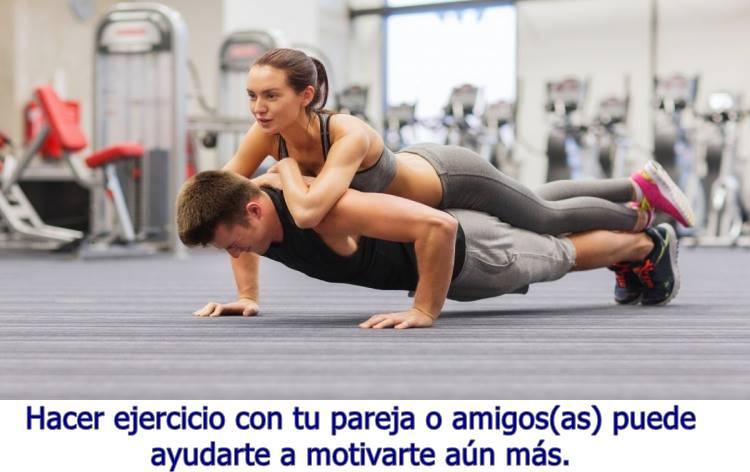 Entrenar en pareja te mantiene con más motivación