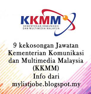 9 kekosongan Jawatan Kosong Terkini di Kementerian Komunikasi dan Multimedia Malaysia (KKMM)