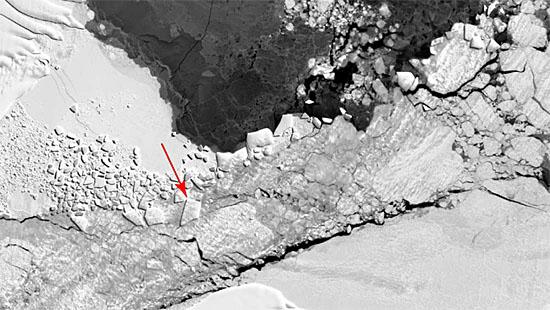 Nasa - Iceberg retangular - novas imagens - 1