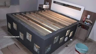 Cama hecha con material