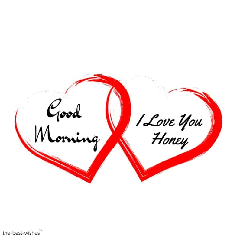 two heart good morning honey images
