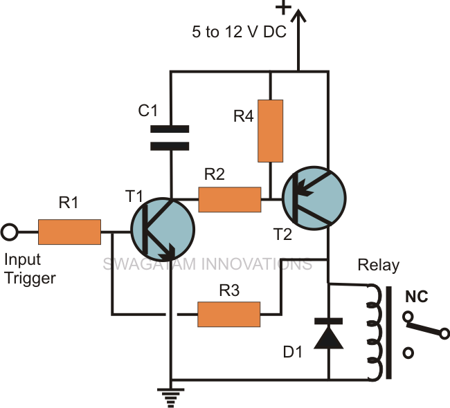 Latch on Latching Relay Circuit Diagram