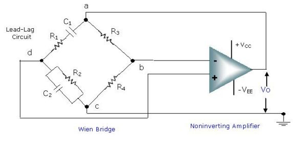 Wein Bridge Oscillator Circuit Diagram 70cc Pit Bike Wiring Using Op-amp - My Study
