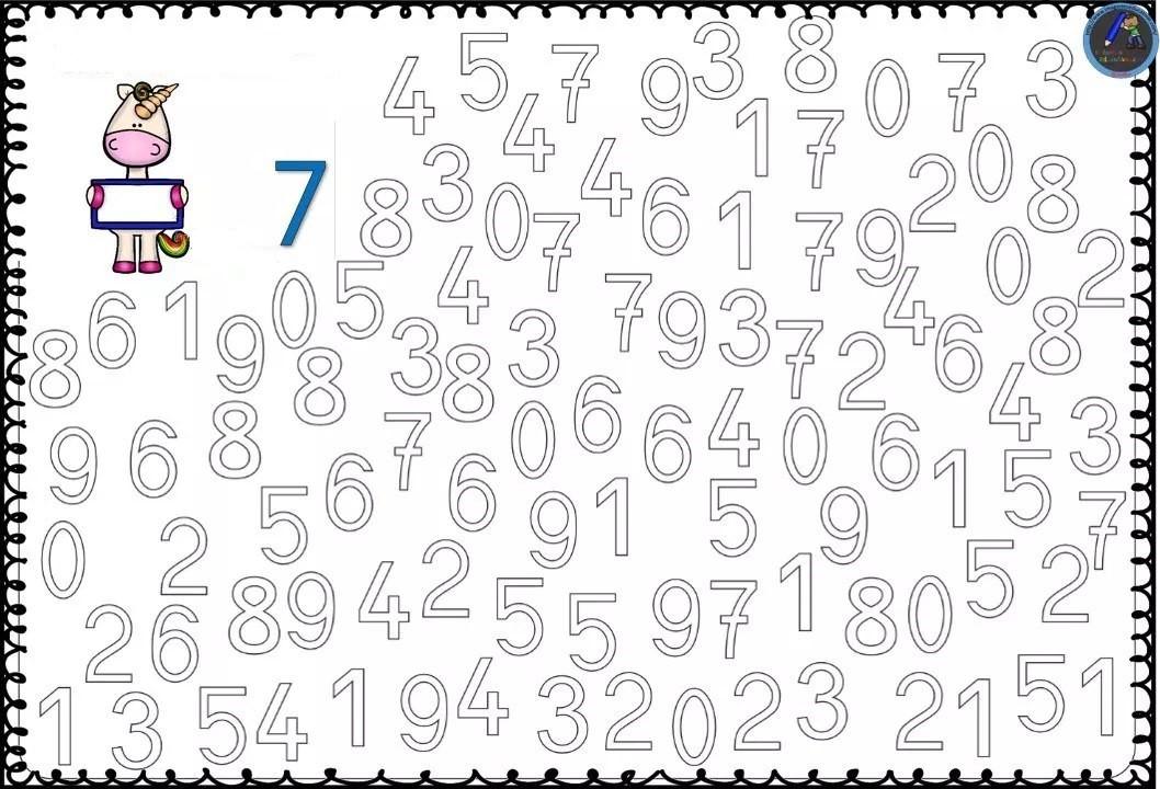 Numbers Coloring Pages 1-10 Free Printable Preschool - Lebenslauf Vorlage