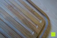 Rille: Brotkasten aus Bambusfaser mit Deckel aus Bambus | 42 x 23 x 12 cm | Bewahren Sie Ihr Brot luftdicht und hygienisch auf