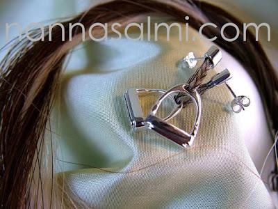 earrings horsehair tailhair