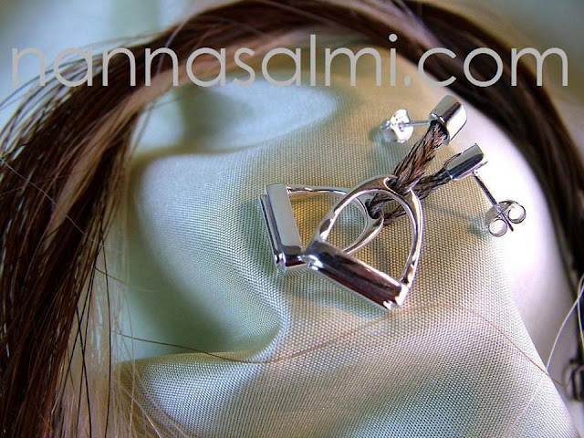 earrings horsehair tailhair