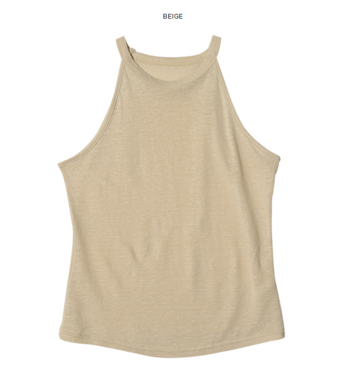 Sleeveless Halterneck Top