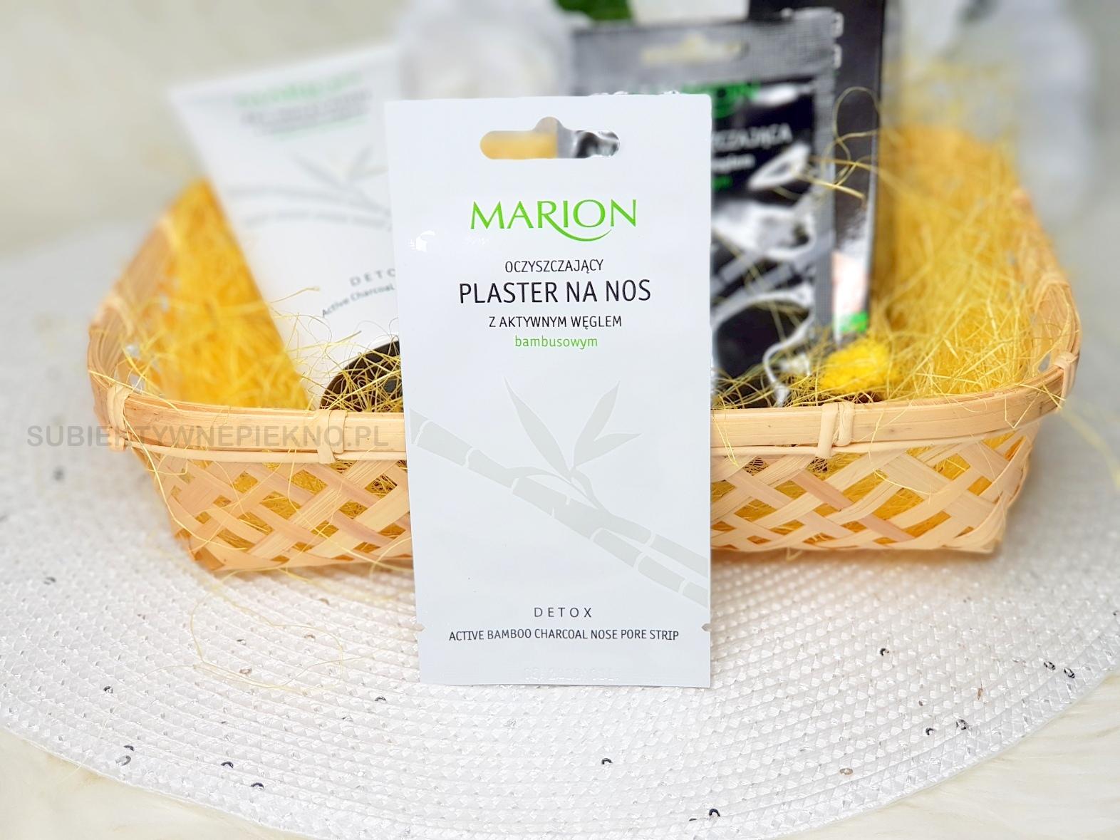 Oczyszczający plaster na nos Marion z aktywnym węglem i oczarem wirginijskim