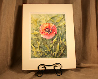 poppies watercolor red orange garden artwork Christy Sheeler Artist