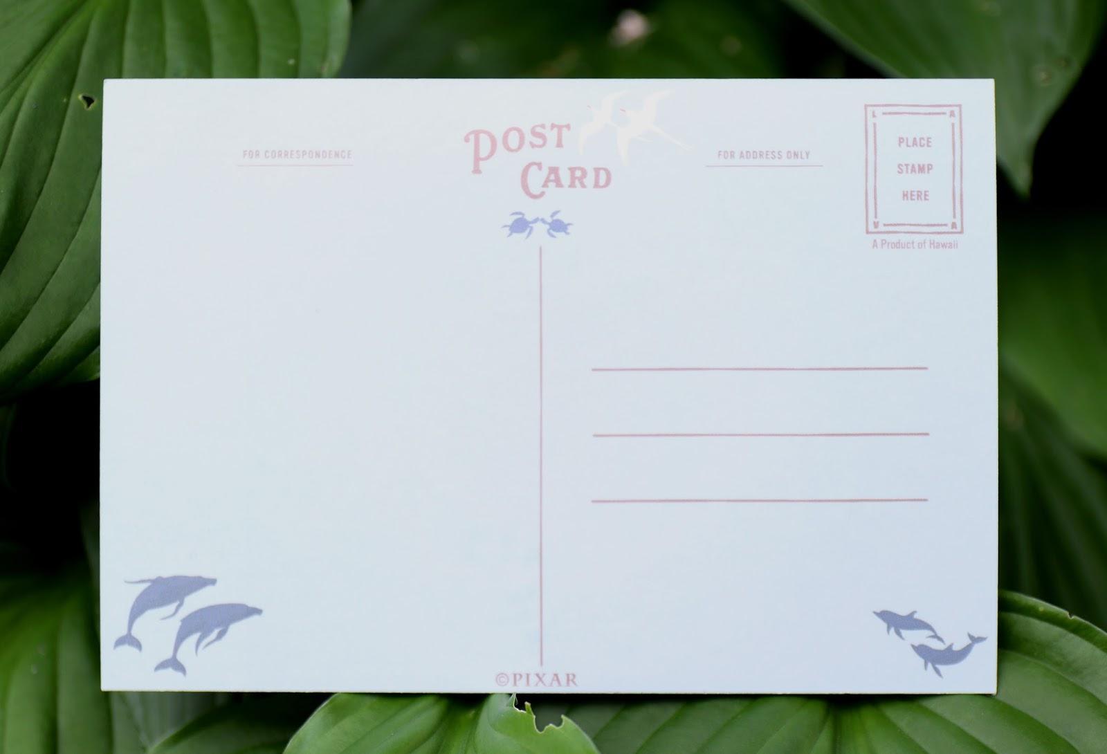 lava pixar studio store postcard