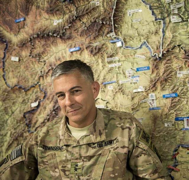 General Stephen Townsend, comandante das tropas EUA na Síria e no Iraque.