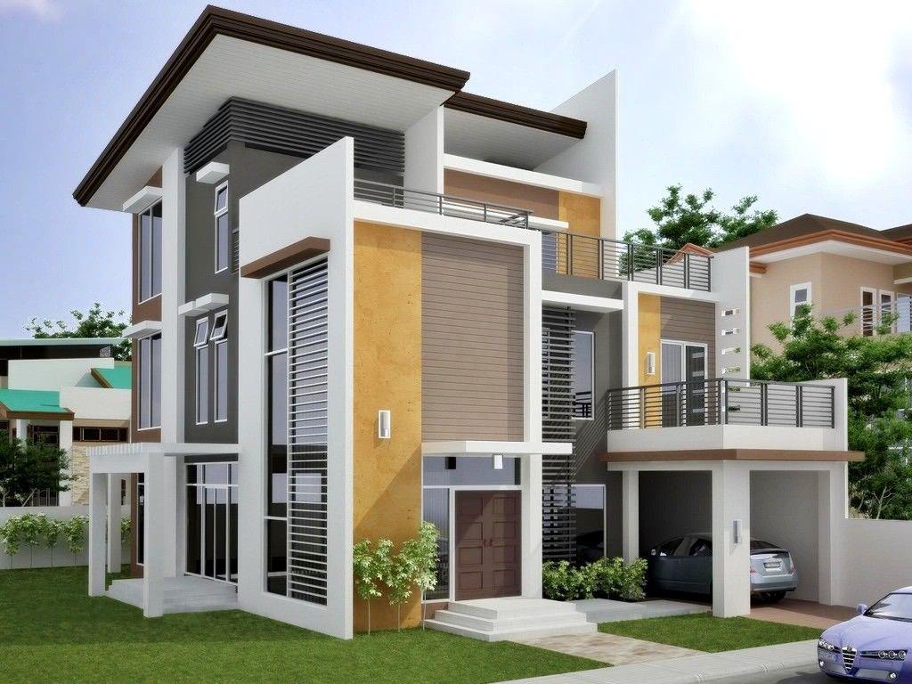 Kombinasi Perpaduan 2 Warna Cat Rumah Modern