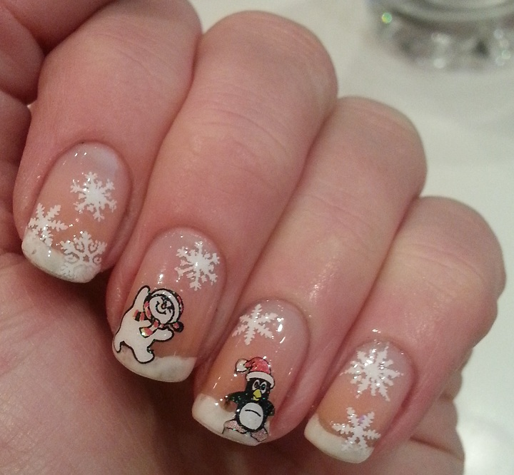 Christmas Nail Designs With White Tips: Pie's Eyes & Other Sparkly Stories...: Christmas French