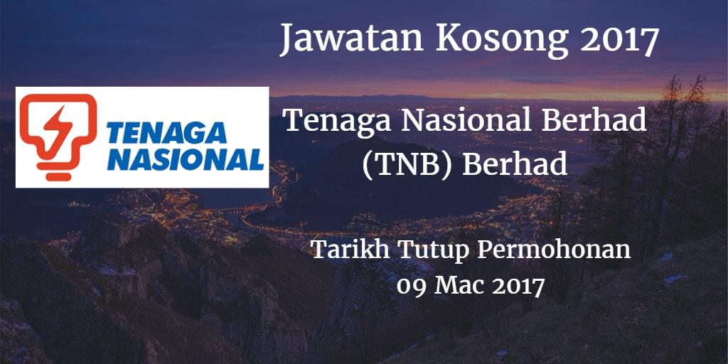 Jawatan Kosong Tenaga Nasional Berhad (TNB) Berhad 09 Mac 2017
