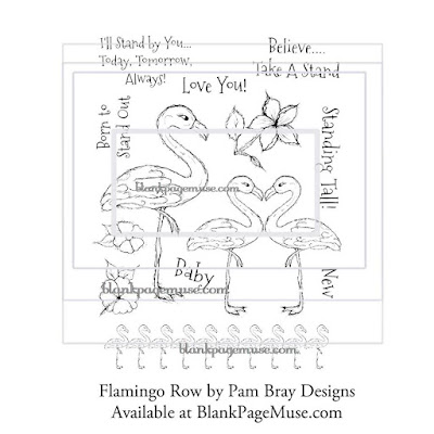 http://blankpagemuse.com/flamingo-row-red-rubber-art-stamps-by-pam-bray-designs-pb007/