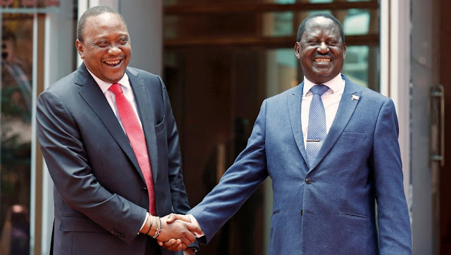 Kenyatta, Odinga Kimeeleweka! Waandaa  Kufanya Ziara ya Kuzunguka Nchi Nzima