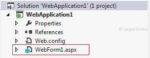 Creating new asp.net web application