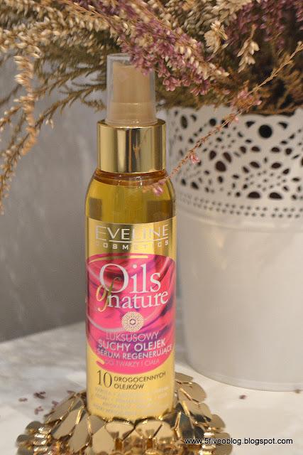 Nowość ! Eveline Cosmetics, Oils of Nature, suchy olejek + regenerujące serum, 10w1 do twarzy i ciała