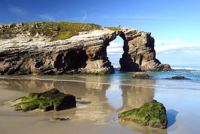Praia da Catedral em Galicia
