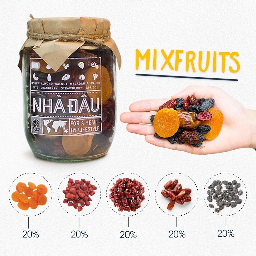 Mixfruits ăn vặt để thai nhi không bị thiếu chất