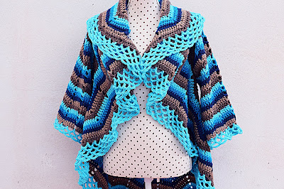 3 - Imagen abrigo redondo adulto Majovel Crochet ganchillo