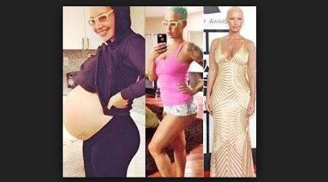 Amber Rose Antes Y despues de Embarazo